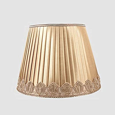 Dorado Plisado pantallas de lámparas, Tambor Pantalla de lámpara ...