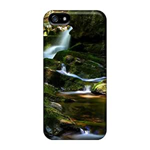 Ultra Slim Fit Hard GoldenArea Case Cover Specially Made For Iphone 5/5s- Buck Mountain Waterfall
