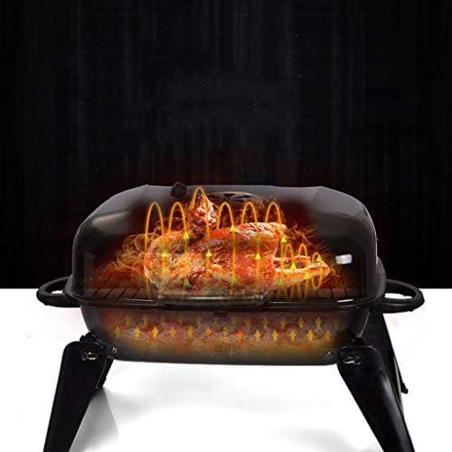 BBQ Extérieur Grill Extérieur Pliable Grill Carbon Portable Émail Viande Poêle Pleine Barbecue Grill Ménage Barbecue Au Charbon Convient Pour Les Repas Pique-Nique Familial