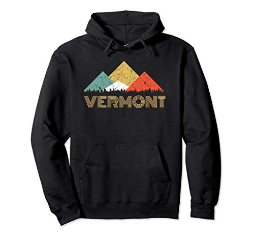 (Retro Vermont Mountain Hoodie for Men Women and)