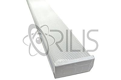 Orilis White 4 ft. 48 Watt Wraparound Flush Mount 2 light Ceiling Fixture with 6,000 Lumens - 5000K (Daylight) - (2) 24W LED T8 Tubes Included
