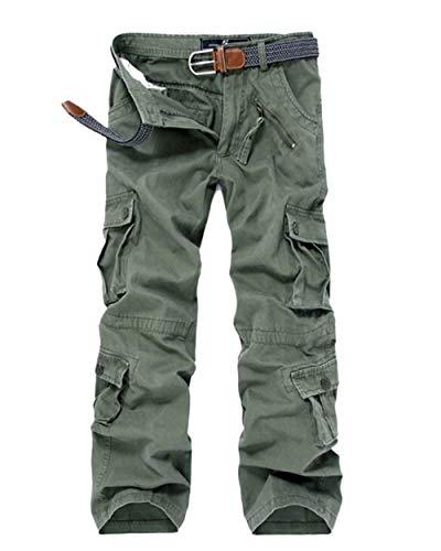 Poches Printemps En Et Couleurs Travail Pantalon Unies Multiples D'automne Cargo Vrac Gras Basic Grün Hommes De Avec XqwOUwT