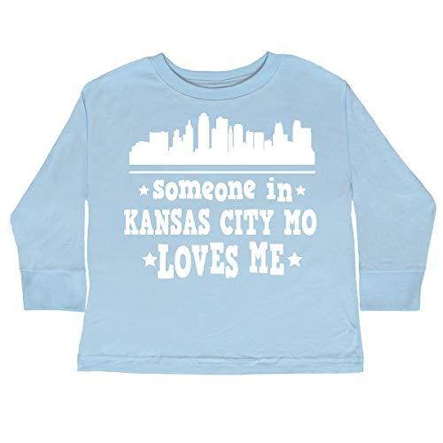 inktastic Kansas City Missouri Loves Toddler Long Sleeve T-Shirt 2T Light Blue