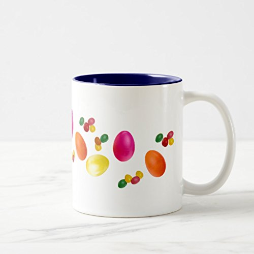 Zazzle Easter Eggs and Jelly Beans Mug, Navy Blue Two-Tone M