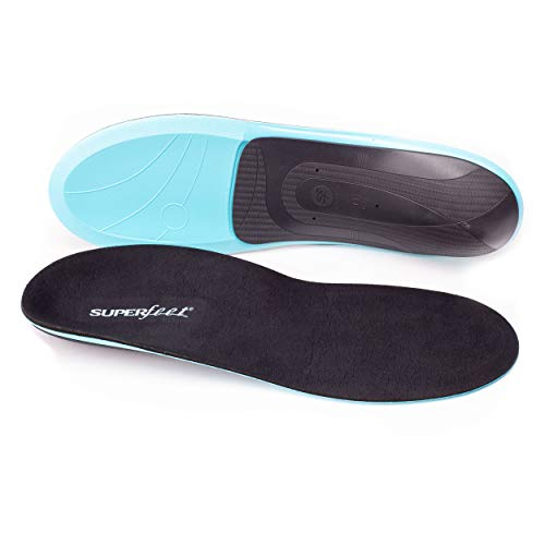 Superfeet EVERYDAY Memory Foam Comfort Insoles for Orthotic Support and Cushion, Slate, C: 6.5-8 US Womens / 5.5-7 US Mens