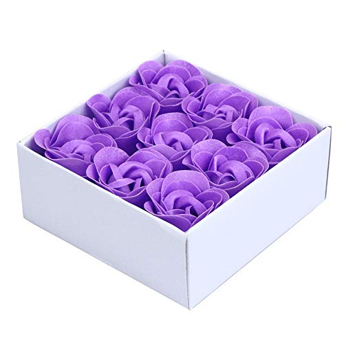 6pcs Scented Rose Flower Petal Bath Body Soap Wedding Party Gift Fake - Fake Flowers