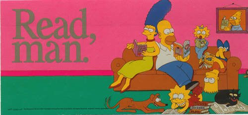 the-simpsons-read-man-bookmarks-pack-of-10-bart-homer-lisa-marge-maggie