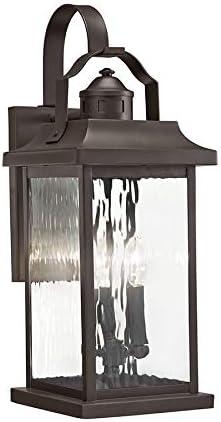 Outdoor Wall Light E-12 KICHLER Linford 39457 22.2-in H Olde Bronze Candelabra Base