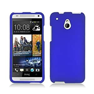 Blue Hard Case Snap On Rubberized Protector Cover For HTC One mini M4