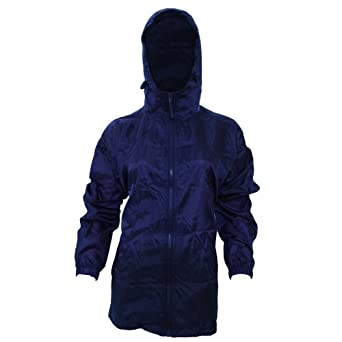 Amazon.com: Womens/Ladies Hooded Packaway Mac / Rain Jacket (14 US ...