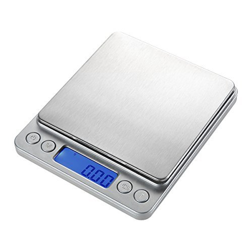 - WAOAW 500g/0.01g Digital Pocket Stainless Jewelry & Kitchen food Scale, Lab Weight, 0.001oz Resolution
