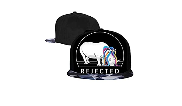 Adjustable Hip Hop Flat-Mouthed Baseball Caps Too Horny Mens and Womens Trucker Hats Rejected Unicorn