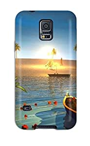 New RVAVvHj293WdJaa Beach S Skin Case Cover Shatterproof Case For Galaxy S5