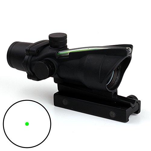 Ohhunt 1X32 Real Fiber Optics Green Dot Illuminated Scope Hunting Riflescopes Picatinny Mount by ohhunt
