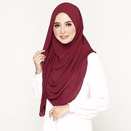 Instant Ready to Wear Chiffon Hijab Scarf Shawl for Muslim ...