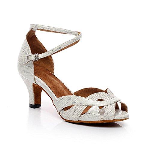 misu - Zapatillas de danza para mujer negro negro blanco