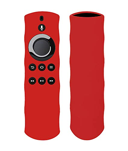 Silicon Case for Alexa Voice Remote for Fire TV and Fire TV Stick by 1XD GEAR (Dark red)