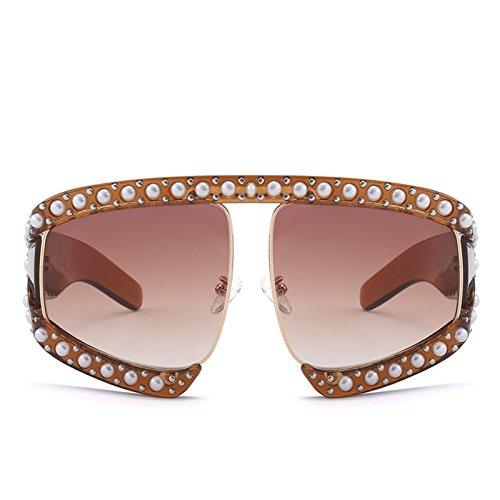 De D373 Que Mujer Sol Solnueva Limotai Sol Aire De Señora Negro De Forma Gafas Tonos De En Gafas pera para D373 Gafas Sol Claro Conduce Compras De Transparentes Libre marrón marrón Gafas Al qwqZPAx