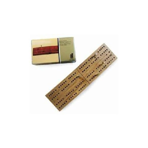 Classic Travel Wooden Folding Cribbage Board Game, One Color