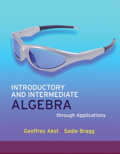 Introductory and Intermediate Algebra through Applications Value Package (includes MathXL 24-month Student Access Kit) (2nd - Applications Package Value