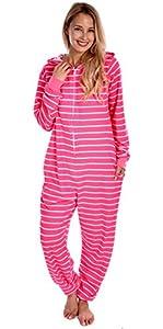 Body Candy Women's Adult Onesie Printed Knit One Piece Pajama