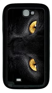 customizable cases Black Cat eyes TPU Black case/cover for samsung galaxy N7100/2