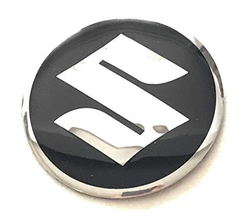 BRANDNEWZ SILVER EMBLEM WHEEL HUB CENTER CAP STICKERS BADGE WHEEL TRIM 56.5 MM DOME SET OF 4 COMPATIABLE FOR ALL SUZUKI MODELS