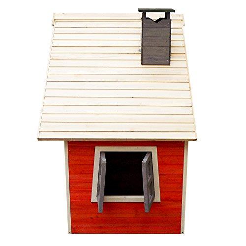 Caseta juegos ni/ños infantil de madera casita para jard/ín jugar exterior ventanas