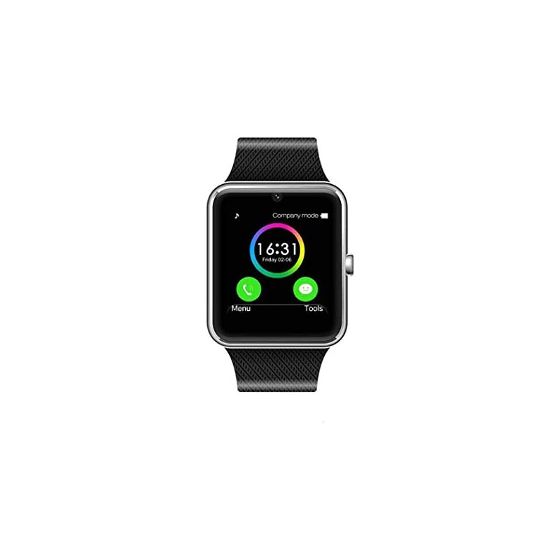 8bfb2ecdfcd MSRM Smart Watch Call Sync and Handfree for Android 4.3 or Above and iPhone  5s 6 6s 7 7s (Partial Functions for iPhone) Silver