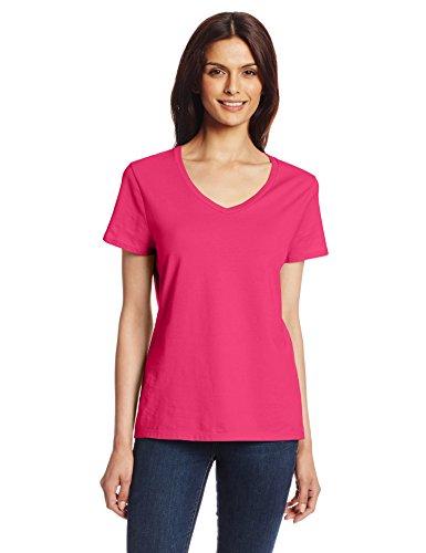hanes-womens-nano-premium-cotton-v-neck-tee-wow-pink-xx-large