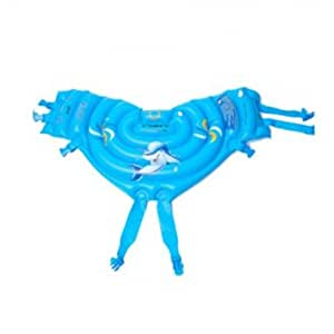(Color & Size: Blue -L) Inflatable Swimming Back Float Swimming Ring Floating Circle for Kids Adults