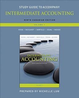 study guide to accompany intermediate accounting volume 1 rh amazon com Intermediate Accounting Exam Kieso Intermediate Accounting