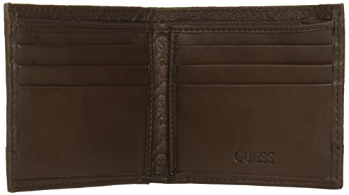 Guess Men s Leather Slim Bifold Wallet, Brown, One Size - Import It All 01ef680d4e