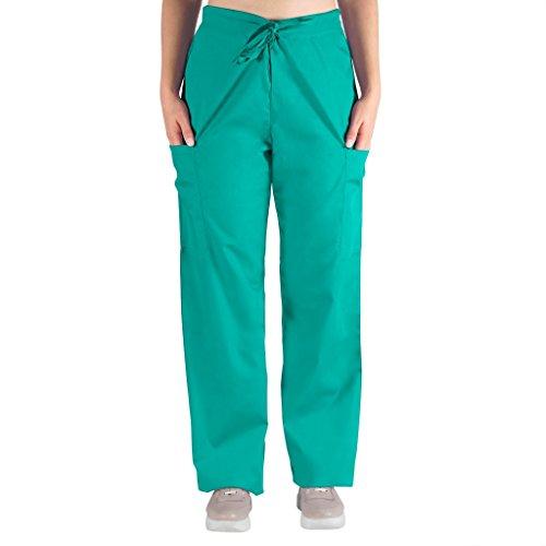 Nurse Scrubs for Men & Women: Unisex Medical Nursing Pants 2 Cargo Pockets M Turquiose ()