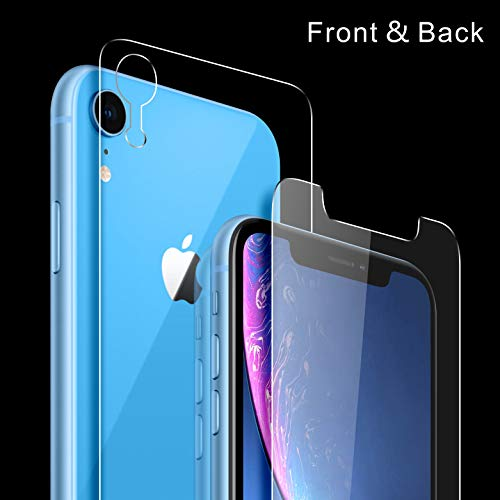 Singularity Products Front and Back Tempered Glass Screen Protector 9H Hardness, Anti Scratch, No Bubbles, High Definition Compatible Apple iPhone XR (6.1 inch) (2018)