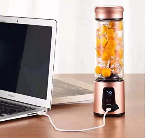 BAIYI Presse-Agrumes électrique, agitateur Multifonctions avec Port USB et capacité en Acier Inoxydable Rechargeable de 550 ML pour Les Fruits, Les légumes et Les protéines