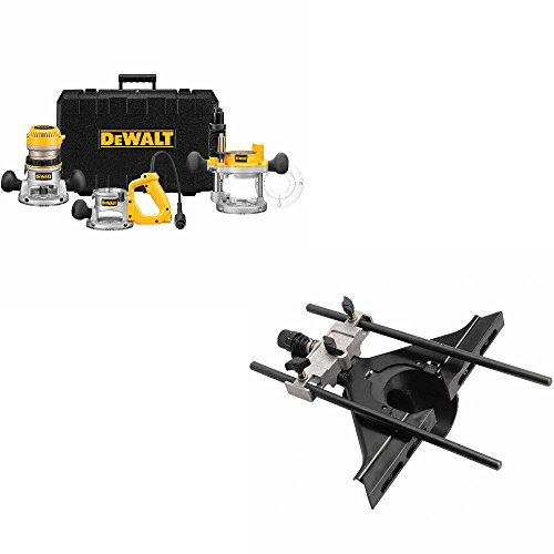 DeWalt DW618B3 2-1/4 HP Three Base Router Kit w/DW6913 Universal Edge Guide