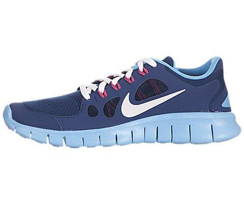 Nike Free 5.0 (GS) Girls Running Shoes 580565-401 Brave Blue 6.5 M US