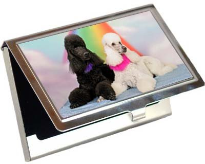 Poodle Business Card / Credit Card Case by Canine Designs