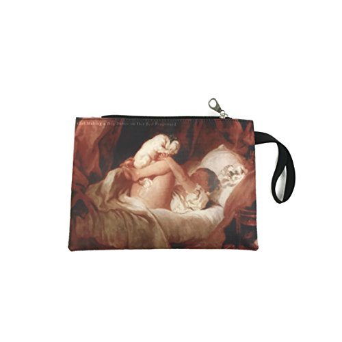Jean-Honoré Fragonard Girl Making A Dog Dance On Her Bed Bag 444