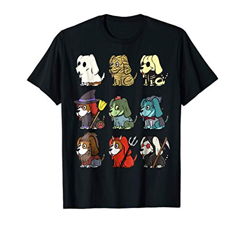 Basset Hound Scary Costumes Halloween T-Shirt Dog Shirt -
