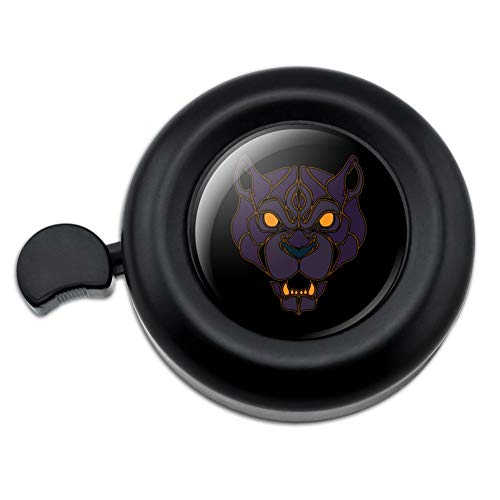 GRAPHICS & MORE Black Panther Leopard Jaguar Face Tribal Bicycle Handlebar Bike Bell