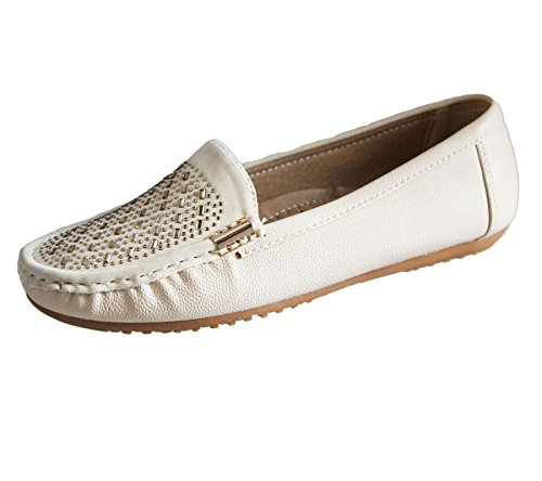 Womens Loafers Flat Casual Comfort Ladies Diamante Summer Pumps Espadrilles Shoes Beige 2maiB