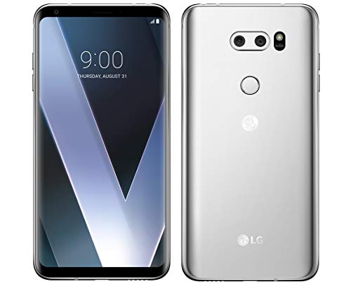 LG V30 64GB 4G LTE Android Smartphone - AT&T (Renewed) (Cloud Silver)