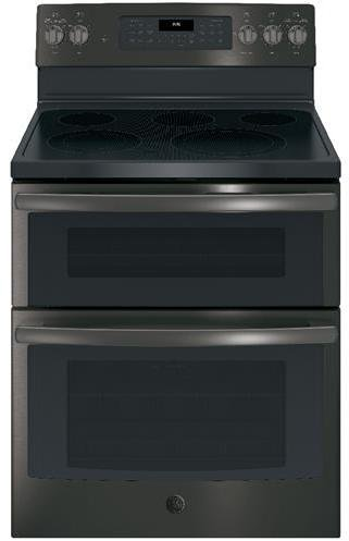 GE JB860BJTS 30 Inch Freestanding Electric Range with 5 Elements, Smoothtop Cooktop in Black Stainless Steel