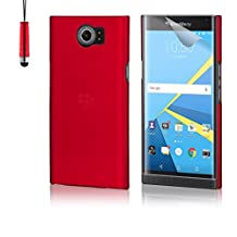 32nd® Hard shell protective case cover for BlackBerry Priv, including touch stylus - Red