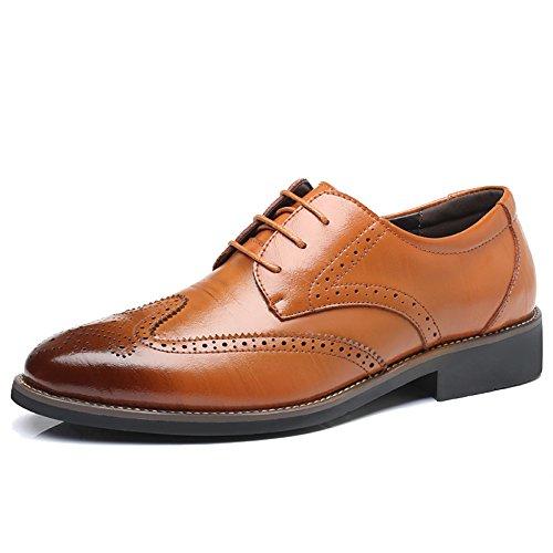 Derby Moda Negocios Clásicos Khaki Formales Merryhe Real Para De Hombres Cuero Zapatos Bodas Brogue ZCqgxpwP