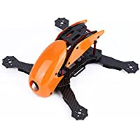 YKS Robotcat DIY Full Carbon Fiber Mini 270 Quadcopter Frame Kit with Hood Cover for FPV Racing Quadcopter Parts (Orange)