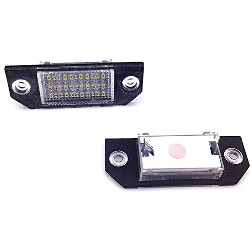 08 Dc Boot - Refaxi 2PCS 24 LED Rear Number License Plate Light Lamp Replacement Bulbs For Ford Fiesta Focus