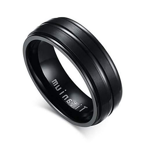 (Campton Men Women Stainless Steel Titanium Band Ring Wedding Engagement Size 7-13 | Model RNG - 12332 |)